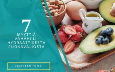 7 Myyttiä vähähiilihydraattisesta ruokavaliosta