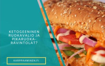Voinko syödä pikaruokaravintoloissa ketogeenisellä dieetillä?